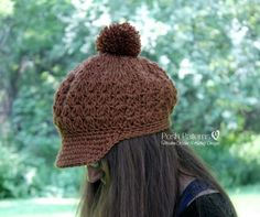 This crochet pattern makes a gorgeous beanie hat with a fun and easy stitch pattern. Includes pattern for a cute bow embellishment.