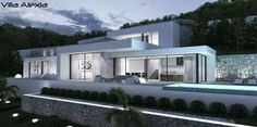 Your professional purchasing agent, for the best first-line villas and building plots. Be Spoiled properties, new build, renovations and investments Spain. Architecture Building Design, Modern Architecture House, Flat Roof House, Modern Villa Design, Modern House Plans, Pool Houses, Future House, Planer, Terrains