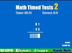 Play Math Timed Tests 2 Now! Practice math the fun way, on your mobile phone or tablet like iPad, iPhone, or Android. Number Sense, Facts, Learning, Kids, Fishing Line, Young Children, Children, Studying, Kid