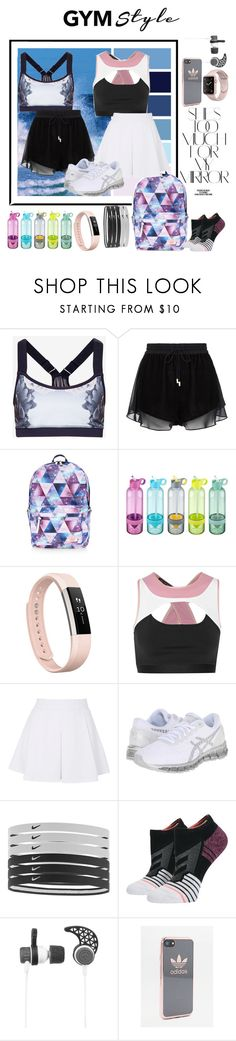 """Untitled #132"" by patysweetgirl ❤ liked on Polyvore featuring Ted Baker, Rika, sass & bide, Accessorize, Fitbit, Live the Process, Topshop, Asics, NIKE and Stance"