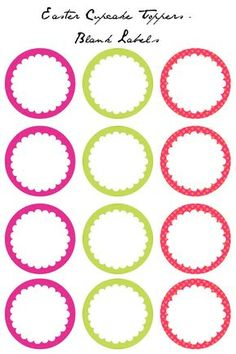 Colorful Easter Cupcake Toppers Free Printables