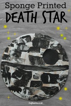 This fun Death Star craft is perfect for Star Wars obsessed kids! An easy craft using upcycled materials.