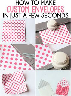 How to make custom envelopes in seriously just a few seconds! This looks so simple, I have to try it!