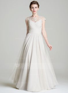 A-Line/Princess Scoop Neck Floor-Length Ruffle Beading Appliques Lace Sequins Zipper Up Cap Straps Sleeveless No 2016 Other Colors Spring Summer Fall General Plus Chiffon Mother of the Bride Dress