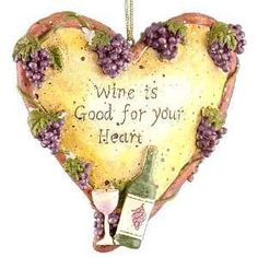 Tuscan Winery Wine Is Good For Your Heart Christmas Ornament: