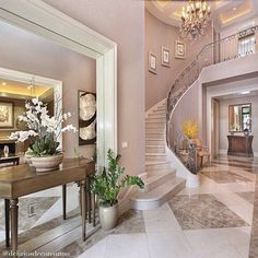 Interesting and cool palette with neutral decor . Elegant.