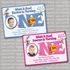 Winnie the Pooh First Birthday Party Invitation  by CustomBazaar, $11.00