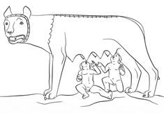 Romulus and Remus with the She Wolf coloring page from Ancient Rome and Roman Empire category. Select from 31983 printable crafts of cartoons, nature, animals, Bible and many more. Remo, Free Printable Coloring Pages, Free Coloring Pages, Romulus And Remus, 6th Grade Art, She Wolf, Autumn Art, Ancient Rome, Sculptures