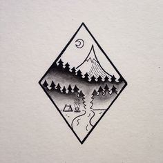 "davidrollyn: "" Mt. Hood camping scene. """