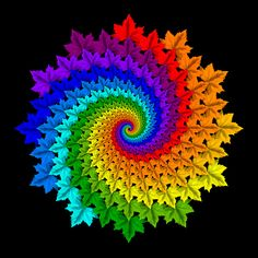 Maple Leaf Colour Wheel Deux You are in the right place about Crochet afghan Here we offer you the most beautiful pictures about the Crochet. Spiral Crochet Pattern, Motif Mandala Crochet, Crochet Motifs, Crochet Flower Patterns, Freeform Crochet, Afghan Crochet Patterns, Crochet Designs, Crochet Flowers, Crochet Crafts