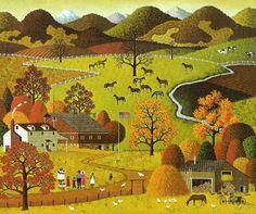 Montana Horse Farm, Charles Wysocki (1928 – 2002)
