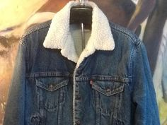 Lined Levi Denim Jacket / Sherpa Lined Levi's Denim by thesoupison