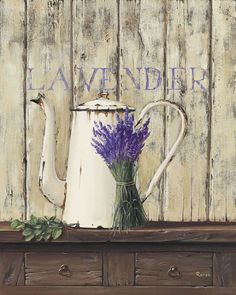 Renee-Still-Life-Lavender-II-Fertig-Bild-24x30-Wandbild-Lavendel