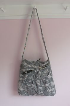 Upcycled ACU Army Combat Uniform Tote Bag