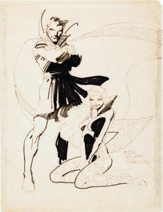 Doctor Strange commission by Frank Miller, circa 1980.