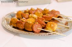 Fun idea for Oktoberfest, a BBQ, or birthday: soft pretzel & (vegan) sausage skewers / image by Beertographer, via Flickr