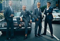 a man in a suit never gets old --pose the guys like this for Marcus' homecoming dance?