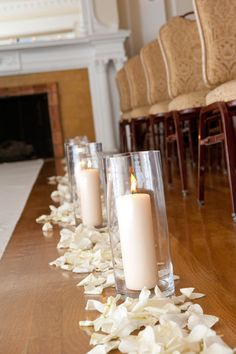 Aisle Runners - love candles down the aisle