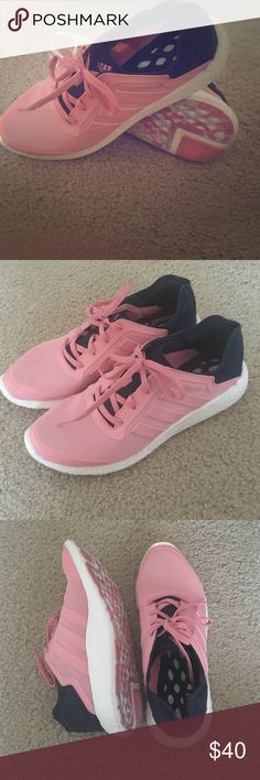 ADIDAS PINK PURE BOOST 9 1/2 Adidas pure boost running shoe. Only worn once brand new conditions. Adidas Shoes Athletic Shoes