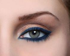 More blue eyeliner