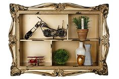 AdirHome Ornamental Wood Wall Shelf with 4 Sections * You can find more details by visiting the image link. (This is an affiliate link) Rustic Wall Shelves, Glass Wall Shelves, Reclaimed Wood Floating Shelves, Wood Wall Shelf, Floating Wall Shelves, Hanging Shelves, Display Shelves, Display Ideas, Wall Shelf With Drawer