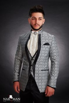 1 new message Tuxedo Shop, Mandarin Collar, Wedding Suits, Black Tie, Mens Suits, Party Wear, Bride Groom, Dress To Impress, Ready To Wear