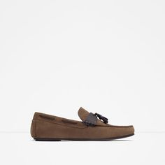 ZARA - MAN - LEATHER LOAFERS WITH TASSELS