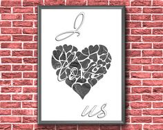 I Love Us Print Couples Printable I Love Us Printable Couple Art, Love Couple, Etsy Handmade, Handmade Gifts, Bedroom Art, Our Love, Printable Wall Art, Art Boards, Canvas Wall Art