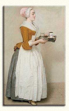 Jean Etienne Liotard çikolatacı kız
