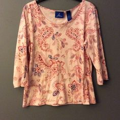 Paisley Print Top with Beaded Neckline Adorable top with no signs of wear.  j h collectibles Tops Blouses