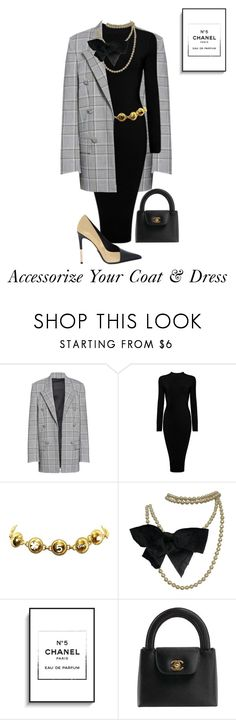 """Style Your Coat & Dress"" by shamrockclover ❤ liked on Polyvore featuring Alexander Wang, Chanel and Balmain"