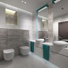 originelle badgestaltung ideen weiße farbe große spiegel