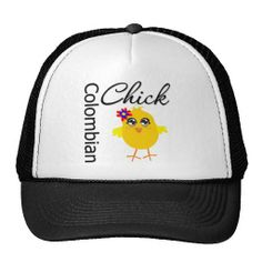 Colombian Chick Hat #Colombian #nationalitychick #Colombianpridehat