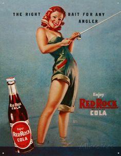 Cola Red Rock - Ragazza che pesca