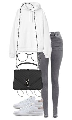 """""""Untitled #2948"""" by theeuropeancloset on Polyvore featuring Topshop, adidas Originals, Chico's, Yves Saint Laurent and ASOS"""