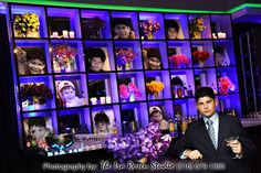 Amazing LED baby photo wall was a creative and beautiful addition to this Bar Mitzvah Party in Long Island NY{Ira Rosen Photography, Gala Event and Food Artistry NY} - mazelmoments.com