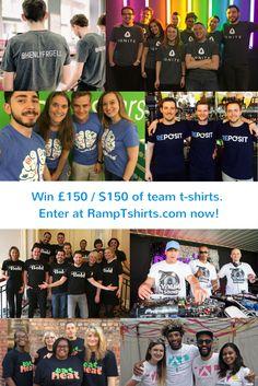 Win £150 / $150 of custom t-shirts!