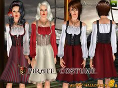 Underneath the Sims 3: Free Sims2fanbg 275 - Pirate Costume - Requested