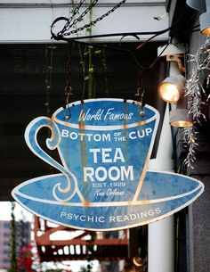 Bottom of the Cup Psychic Readings - 5x7 Fine Art Photograph - New Orleans Vintage Sign