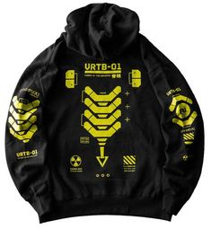 Cyberpunk Clothes, Cyberpunk Fashion, Concept Clothing, Unique Hoodies, Polo T Shirts, Character Outfits, Apparel Design, Black Hoodie, Cool Outfits