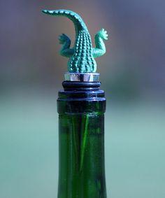Look what I found on #zulily! Alligator Thirsty Animal Wine Stopper #zulilyfinds