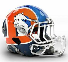 Denver Broncos concept helmet