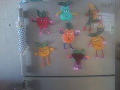 creaciones en foami frutas