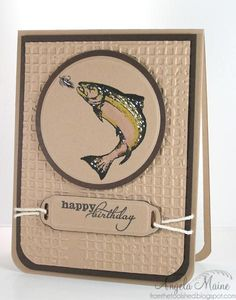 CAS319 Gone Fishin' by Arizona Maine - Cards and Paper Crafts at Splitcoaststampers