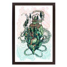 JAMES EADS Giclee Print SPIRES Dream Tracks poster art sn//125
