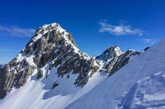 Skitouren in Tirol. Einsamkeit in der Mieminger Kette.