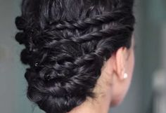 Naturally Curly Updo for Prom