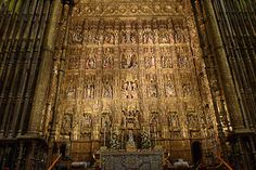 The altarpiece of St Marty of the See, in the cneter of Sevilla