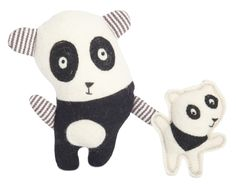 Panda. Collection of toys Pocket Folks from Tumar Art Group. Felt-100% wool. Fabric-100% cotton. Machine and hand assembly. Filler - sintepon. Size 16х12,5х4 cm