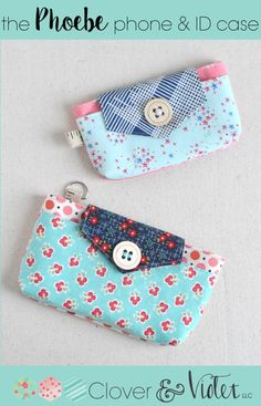 Sewing Patterns Free Free PDF Pattern :: The Phoebe phone Fabric Bags, Fabric Scraps, Sewing Hacks, Sewing Tutorials, Sewing Tips, Diy Couture, Leftover Fabric, Love Sewing, Sewing Projects For Beginners